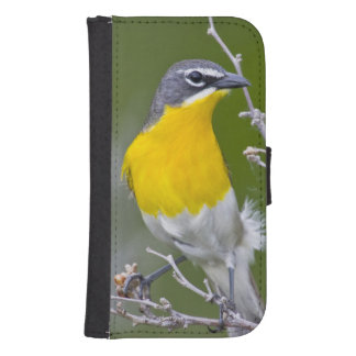 USA, Wyoming, Yellow-breasted Chat Icteria 2 Samsung S4 Wallet Case