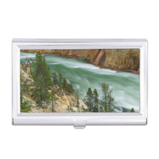 USA, Wyoming, Yellowstone National Park Business Card Holder