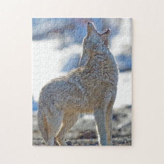 USA, Wyoming, Yellowstone National Park, Coyote 2 Jigsaw Puzzle
