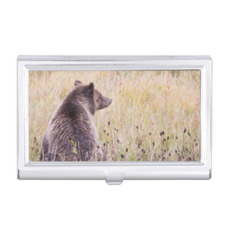 USA, Wyoming, Yellowstone National Park, Grizzly 2 Business Card Holder