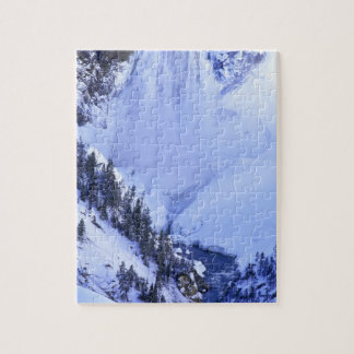 USA, Wyoming, Yellowstone National Park. Winter Jigsaw Puzzle