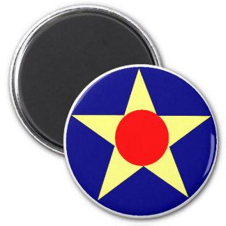 USAAC 6 CM ROUND MAGNET