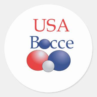 USABocce Round Sticker