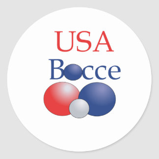 USABocce Round Sticker