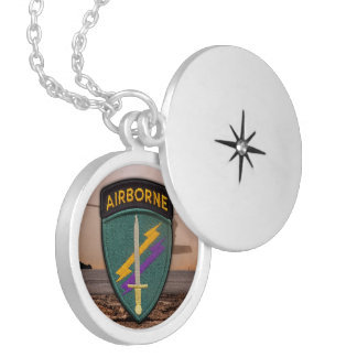 USACAPOC Special ops command veterans vets patch Round Locket Necklace