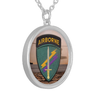 USACAPOC Special ops command veterans vets patch Round Pendant Necklace