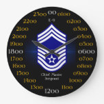 USAF / Chief Master Sergeant E-9 Large Clock