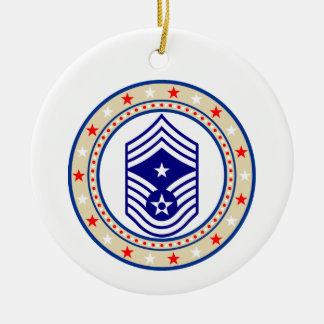 USAF Command Chief Master Sergeant E-9 CCM Sgt Christmas Ornament