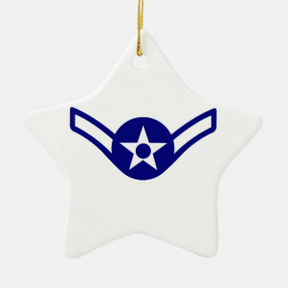 USAF E-2 AIRMAN CERAMIC STAR DECORATION