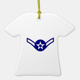 USAF E-2 AIRMAN Double-Sided T-Shirt CERAMIC CHRISTMAS ORNAMENT