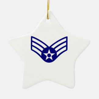 USAF E-4 SENIOR AIRMAN CERAMIC STAR DECORATION