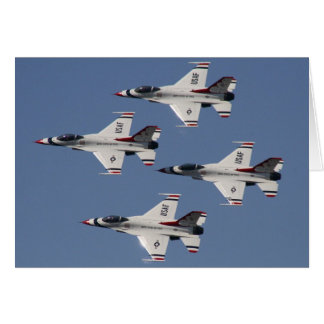 USAF F-16 Thunderbirds Card