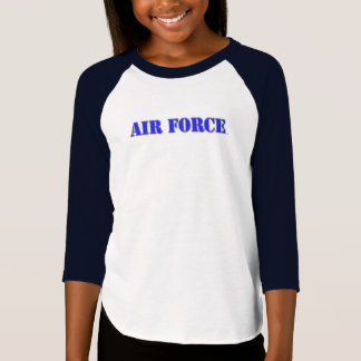 USAF Girls' American Apparel 3/4 Sleeve Raglan Tee