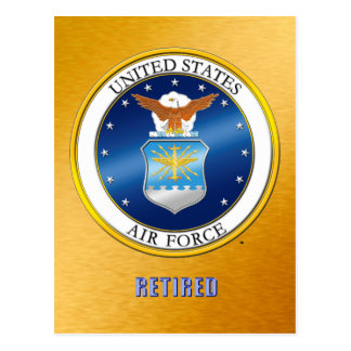 USAF Retired Postcard