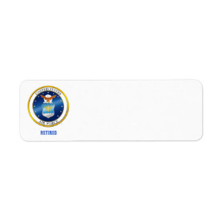 USAF Retired Return Address lable Return Address Label