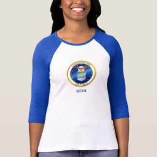 USAF Retired Women's Bella+Canvas 3/4 Sleeve T-Shirt