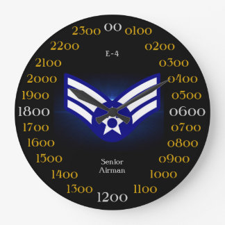 USAF / Senior Airman E-4 Wall Clock