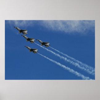 USAF Thunderbirds Arrowhead Loop Poster