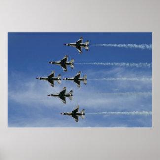 USAF Thunderbirds Delta Bottom Up Pass Poster
