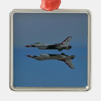 USAF Thunderbirds Solos Reflection Pass 2010 Christmas Ornament