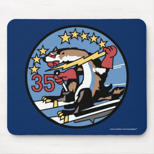 "USAFA Squadon 35 ""Huge Wild Weasels"" Mouse Pad"