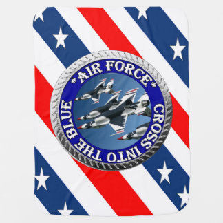 USAIRFORCEFANMERCH, Air Force Design Pram blankets