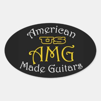 USAMG Oval Stickers, Matte Oval Sticker