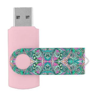USB Flash Drive Drawing Floral
