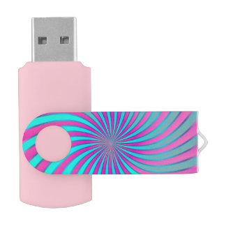 USB Flash Drive Spiral Vortex Swivel USB 2.0 Flash Drive