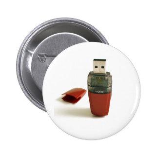 USB Flash pen 6 Cm Round Badge