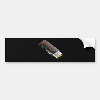 Usb_Flash_Vector_Clipart Bumper Sticker