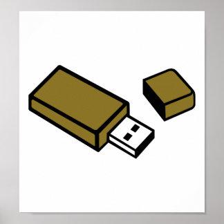 USB Key stick Poster