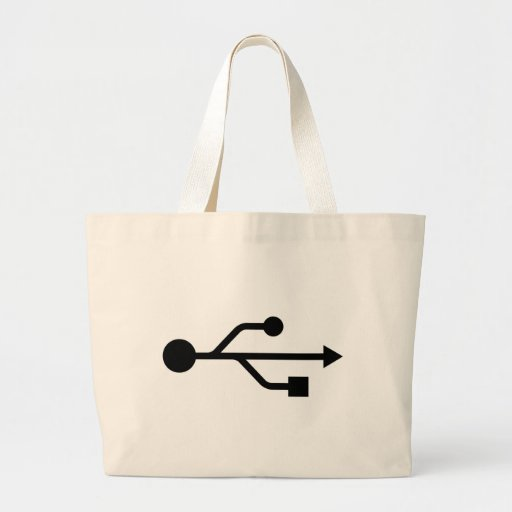 USB Logo Canvas Bag