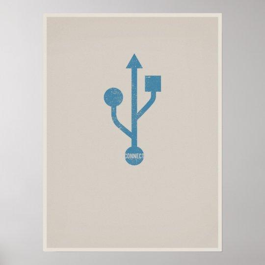 USB minimalistic poster