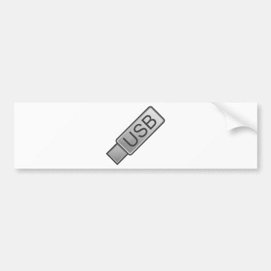 USB Stick Bumper Sticker
