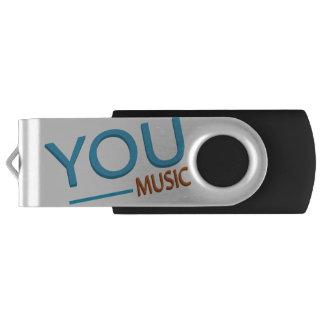 USB Swivel Flash Drive - You music