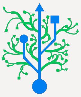 USB Tree Ladies Ringer T-shirt