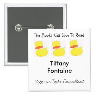 Usborne Books duck name tag 15 Cm Square Badge