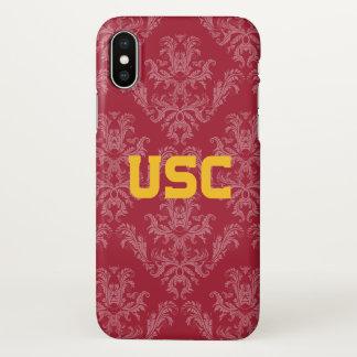 USC Trojans | Damask Pattern iPhone X Case