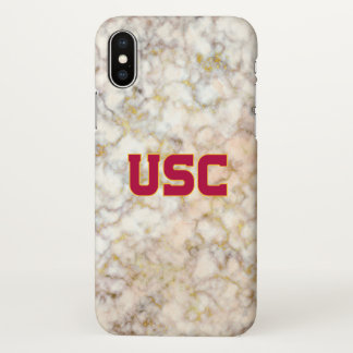 USC Trojans | Rose Gold Marble iPhone X Case