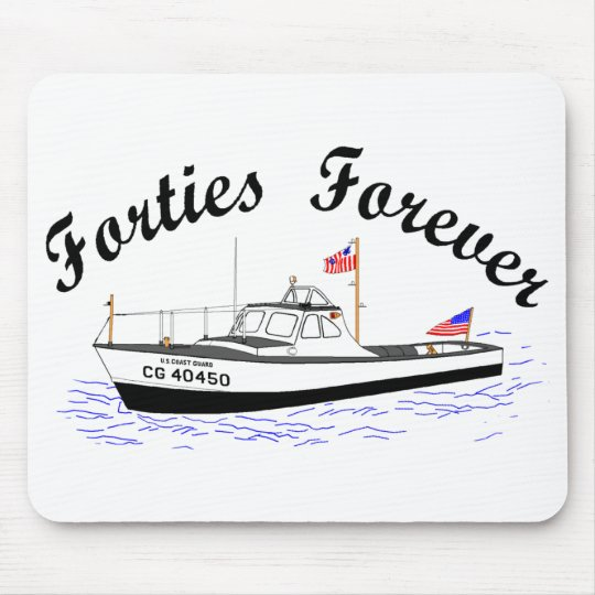USCG 40 Foot Utility Boat Large # 40450 Mouse Mat