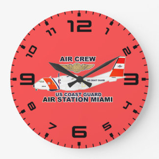 USCG Air Station Miami Air Crew Large Clock