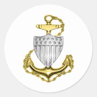 USCG Anchor Round Sticker