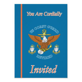 USCG Chief Eagle Anchor Retirement Invitations