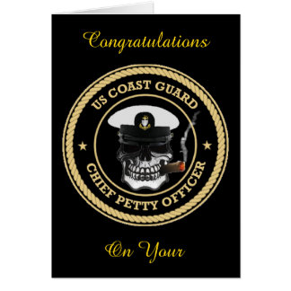 USCG Chief Petty Officer Skull Greeting Card