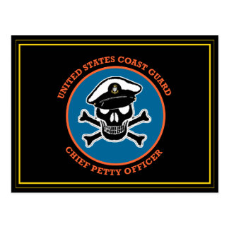 USCG Chief Petty Officer Skull Postcard
