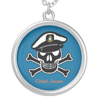 USCG Chief Scull & Crossbones Necklace
