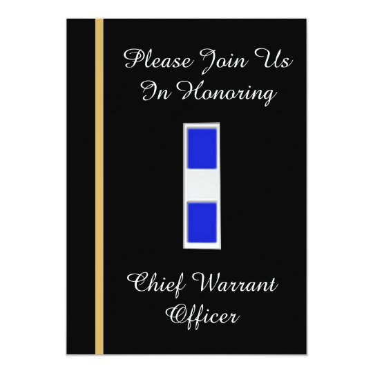 USCG Chief Warrant Officer 3 Retirement Invitation