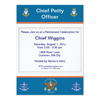 USCG CPO Eagle Anchor Retirement Invitation