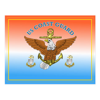 USCG CPO Eagle Anchor Shield Postcard